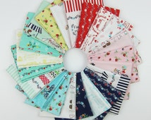 Vintage Market Fat Quarter Bundle - Tasha Noel for Riley Blake - 18 Fat Quarters and 3 Half Yards - 6 Yards Total