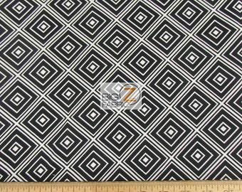 Metro Living Black Diamonds By Robert Kaufman 100% Cotton Fabric - Sold By The Yard (FH-2458)