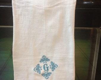 Custom Monogrammed Tea Towel