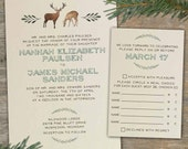 Custom Rustic Deer Wedding Invitations