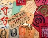 1920's to 1930's Vintage School Ephemera ~ Vintage Varsity ~ 1931 Prom Tickets ~ Antique School Varsity Sport  Tickets ~ Scrapbooks