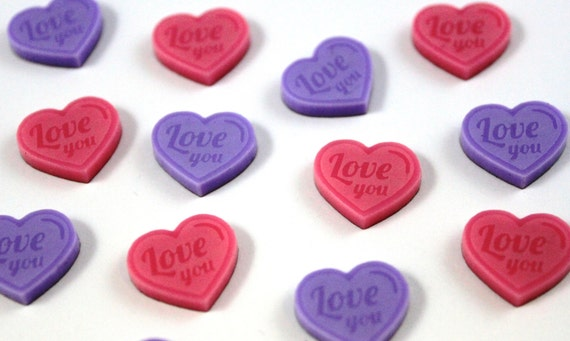 Laser Cut Supplies-8 Pieces. Love You Heart Charm-Laser Cut Acrylic Shape -Little Laser Lab.Online Laser Cutting Australia
