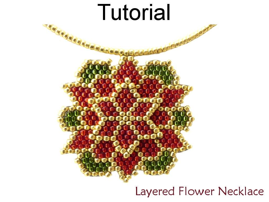 beading tutorial pattern christmas holiday poinsettia