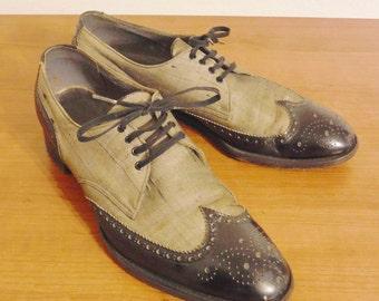 Vintage men's Hanan wing tipped dress shoes