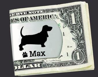 Basset Hound Money Clip   Basset Hound   Custom Money Clip   Dog Lovers Gift   Fathers Day   Gift for Men   Money Clip   Korena Loves