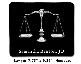 Lawyer Attorney Personalized Mouse Pad Mousepad