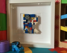 Lego Initial 'R' Trains, Thomas the Tank Engine Letters Baby boy girl birthday personalised customised Picture Nursery Childrens Room