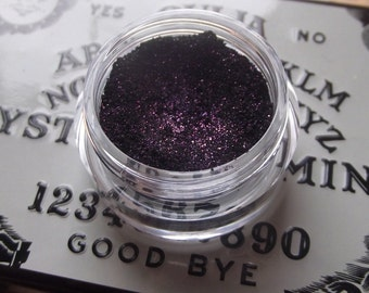 Goodbye - Stain Black with Purple Sparkle Shimmer Eyeshadow