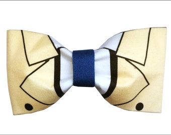Castiel Inspired Supernatural Hair Bow or Bow Tie Angel Cas Geeky Fabric Bow