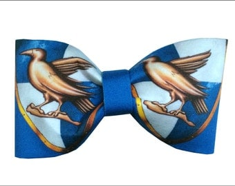Ravenclaw Inspired Harry Potter Hair Bow or Bow Tie Geeky Fabric Bow