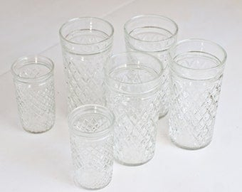 Vintage Drinking Tumblers Glasses Anchor Hocking