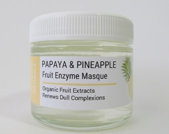 Papaya & Pineapple Enzyme Mask, Facial Masque, Natural Skin Care