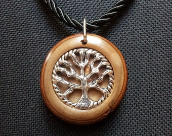 Tree of Life Necklace in Reclaimed Laurel with free shipping worldwide ~ Hand Made Tree of Life Spiritual Jewelry, Tree of Life Necklace