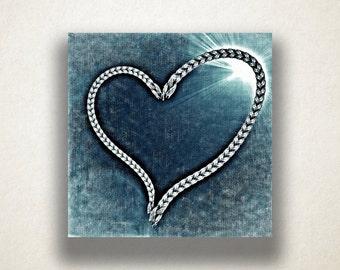 Rope Heart Canvas Art Print, Heart Wall Art, Heart Design Canvas Print, Artistic Wall Art, Canvas Art, Canvas Print, Home Art, Wall Art