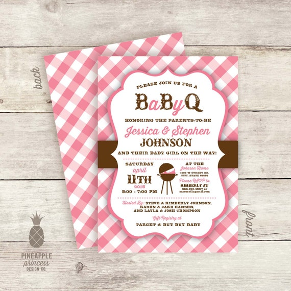 baby q couples shower invitations