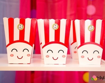 Face for Popcorn Boxes - Instant Download