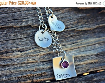 25% OFF Hand Stamped Personalized Charm Bracelet