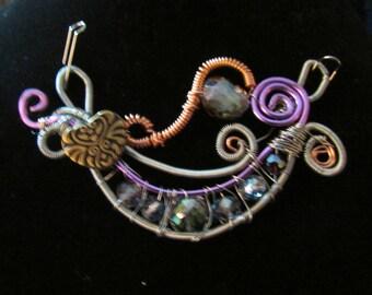 Wire wrap fantasy pendant