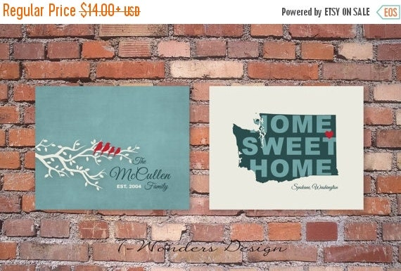 On sale family tree art prints washington state by for Build your own home washington state