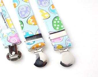 Blue Easter Egg Theme Adjustable Suspenders