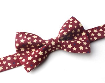 Bow Tie - Red with Stars Bowtie