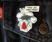 The Lost Boys Pin They're Only Noodles, Michael Shrink Plastic Hand-drawn Fridge Magnet