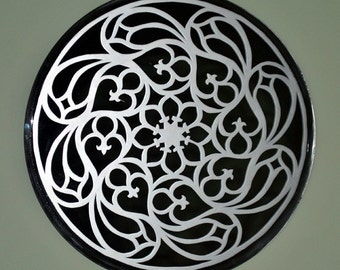 Milano Rose Window Acid Etched Mirror