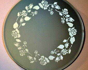 Roses Acid Etched Mirror