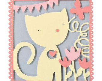Sizzix - Thinlits Die - Playful Kitten by Debi Potter