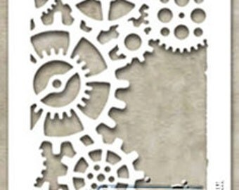 Stampers Anonymous - Tim Holtz - Gears Stencil