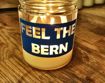 FEEL THE BERN all-natural soy candles made in Vermont