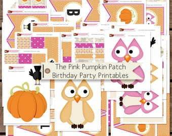 The Girl's Pumpkin Patch Printable Birthday Party Decorations INSTANT DOWNLOAD