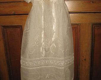 Vintage 1960 baptism dress