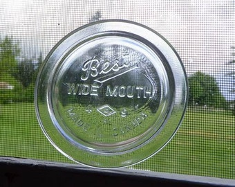 6 AVAIL - 2 Best Wide Mouth Lids Large Sized Glass Canning Jar Lids Vintage Mason Seals Jewel Improved Gem Made In Canada DETAILS BELOW