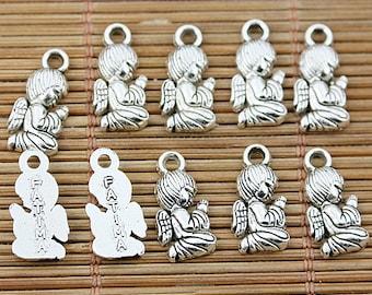 48pcs Tibetan silver fatimi angel charms EF1628