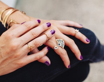 Deco Double Ring