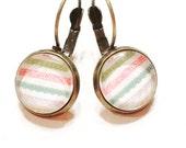 glass cabochon earrings- minimalist earrings-