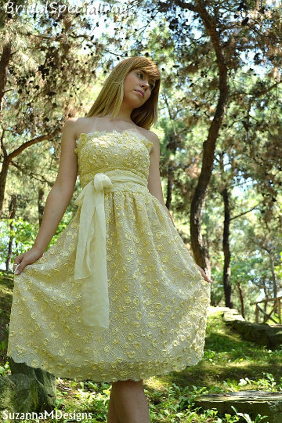 Sale yellow wedding gownshort wedding dress silk wedding for Yellow wedding dresses for sale