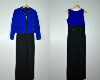 Two Piece High Waisted Pant Suit