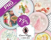 75% OFF SALE Digital Sheet HAPPY Christmas Png file Digital Collage Sheet Digital Collage Png circle 2.5 inches Png clip art Instant downloa