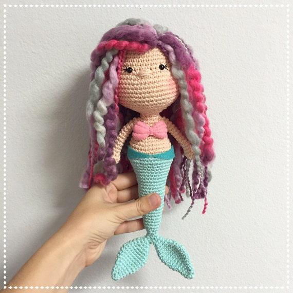 Made to Order Custom Amigurumi MERMAID Doll by CranberriesKnot