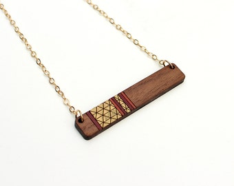 Colorblock Necklace   Geometric Necklace   Layering Necklace Bar Necklace   Laser Cut Necklace    Laser Cut Wood Necklace   Gifts under 50