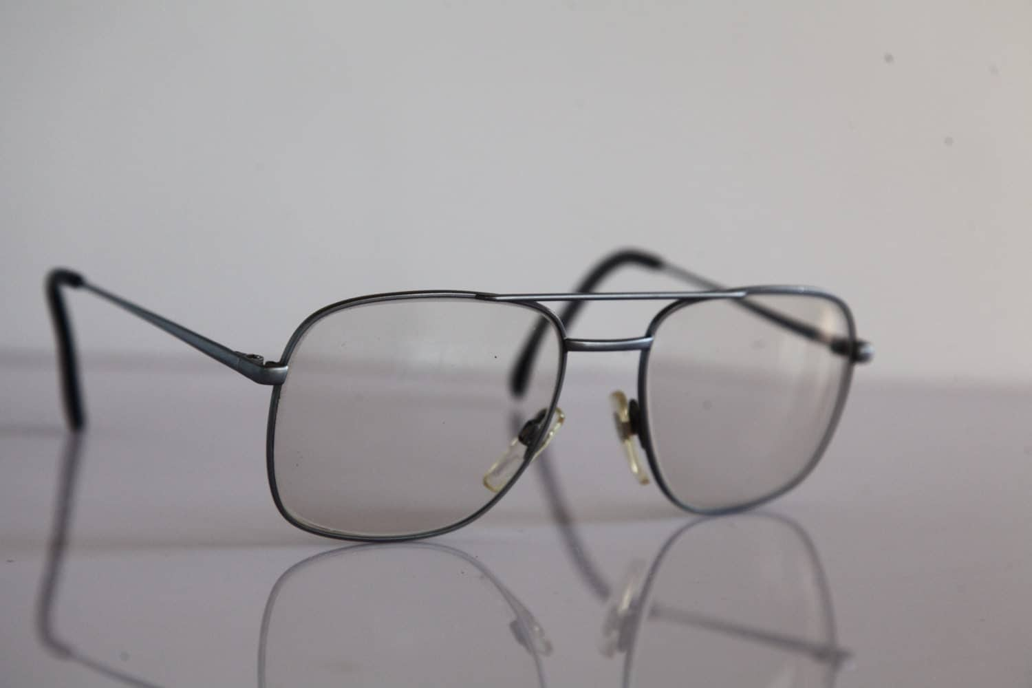 Eyeglasses Frame Made In Germany : Vintage METZLER Eyewear, Silver Frame, Clear lenses RX ...