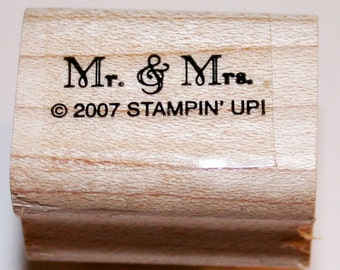 Small Mr & Mrs Rubber Stamp from Stampin Up