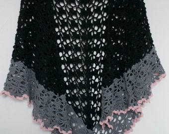 Omslagdoek zwart-grijs