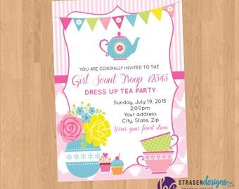 Tea Party Kids Party Printable