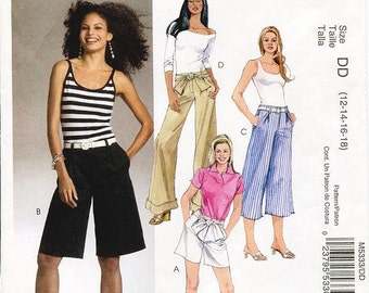 McCall's Pants Pattern M5333 - Misses' Shorts and Pants in Two Lengths - Sz 12/14/16/18