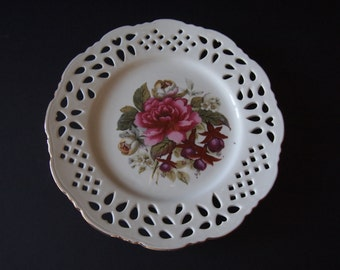 Formalities by Baum Bros Victorian Rose Decorative Porcelain Plate