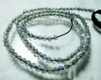 WOW Stunning 13''   3mm  hand polished lepidolite Round labradorite  beads I00-R