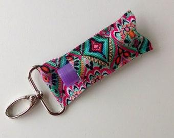Lip Balm Holder - Chap Stick Holder - USB Holder - Floral Lip Balm Holder - Floral Chapstick Holder - Jewel Toned Medallion